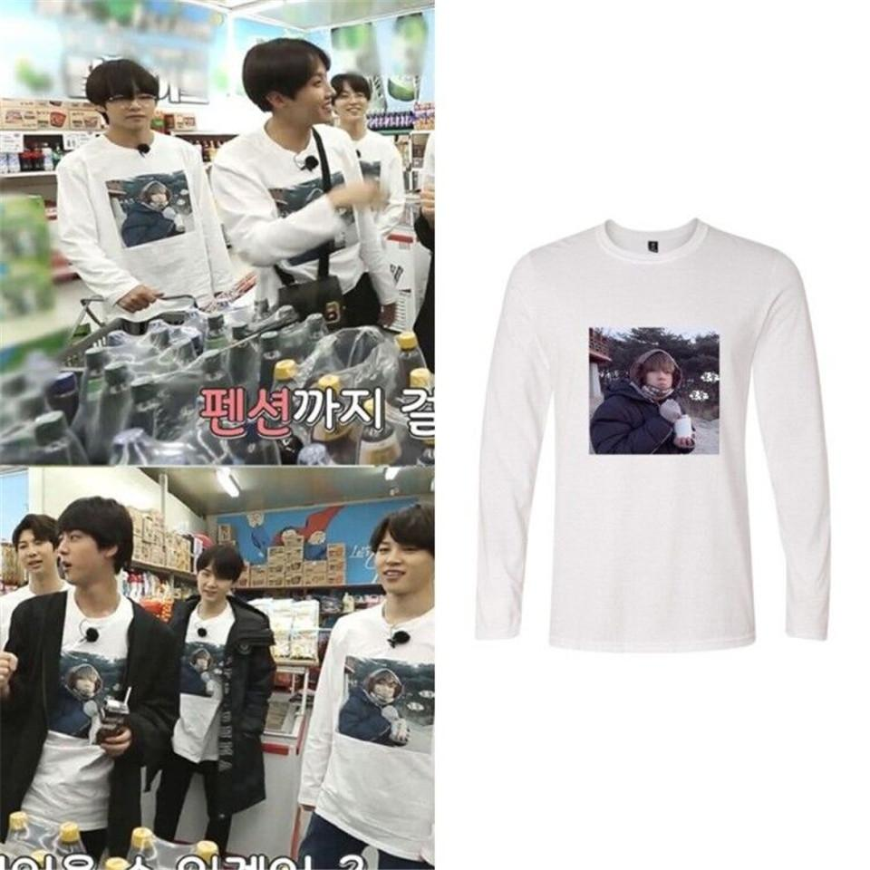 BTS Kpop 2018 New V Bangtan Boys Long Sleeve Tshirt Women T Shirt Harajuku  Autumn Tops Casual Print Fans Clothes Plus Size 4XL T Shirt With Design It  T ... 6b10ce273e77