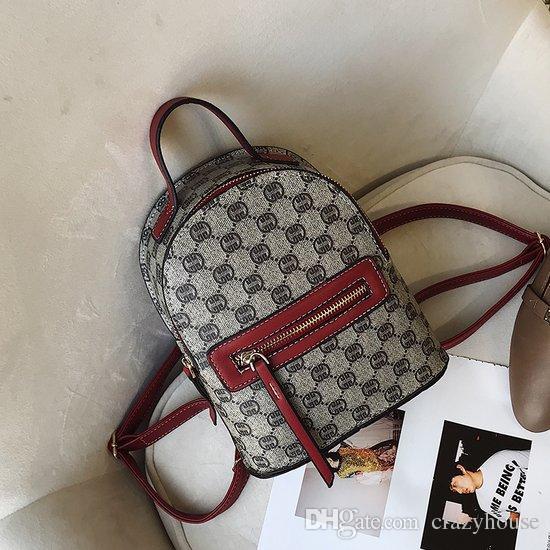 2018 New Designer Bags Backpack Handbag Lady Shoulder Bag Students Luxury  Backpacks Printing Leather Laptop Waterproof Girl Women 180421001  Full-printing ... d0ebcfcd1d140
