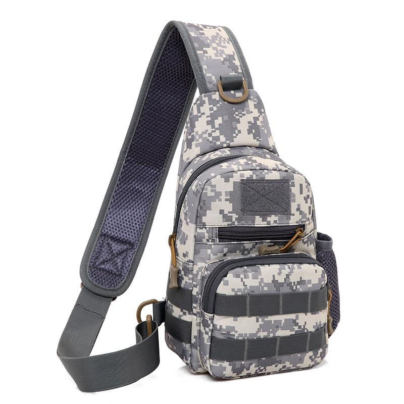 Outdoor camouflage camping out slung shoulder bag leisure sports travel cross riding chest bag nylon tactical military quality chest bag