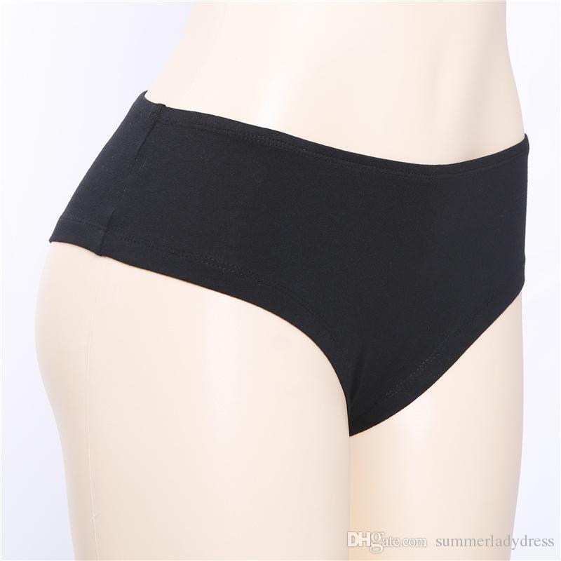 Ropa interior sexy para mujer Moda de verano Impreso ropa interior de algodón Calzoncillos en blanco y negro Ropa sexy para niña