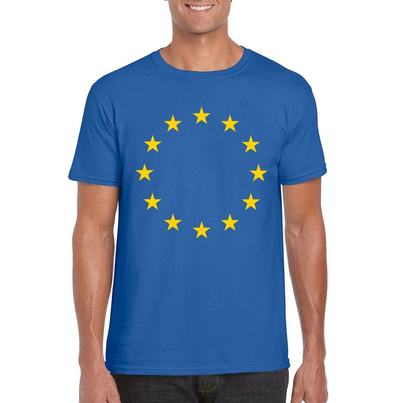 17215481 European Union EU Stars Flag T Shirt, Brexit Vote Remain Tee Adult & Kid  Sizes Funny Unisex Gift Top T Shirt Sites Cool T Shirts For Boys Online  From ...