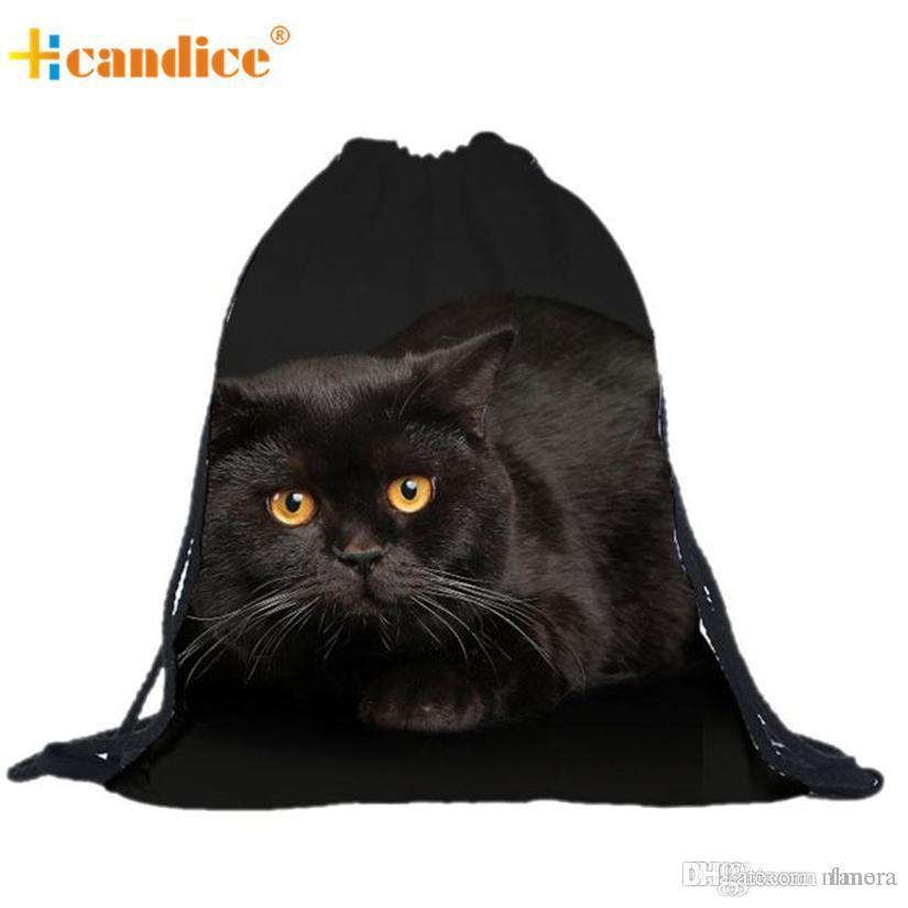 310398cb3d Wholesale- Best Gift Hcandice Unisex Cat Backpacks 3D Printing Bags ...