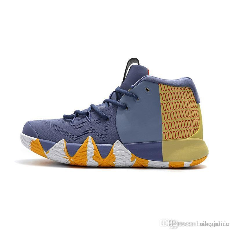 43fb66262075 2019 Cheap New 2018 Mens Kyrie Irving 4 IV Basketball Shoes London City  Pack Zoom Air Cushion 4s Sneakers Trainers With Original Box For Sale From  ...
