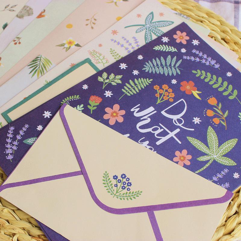 Compre 2 Envelopes 4 Carta Papel Kawaii Dos Desenhos Animados Fox