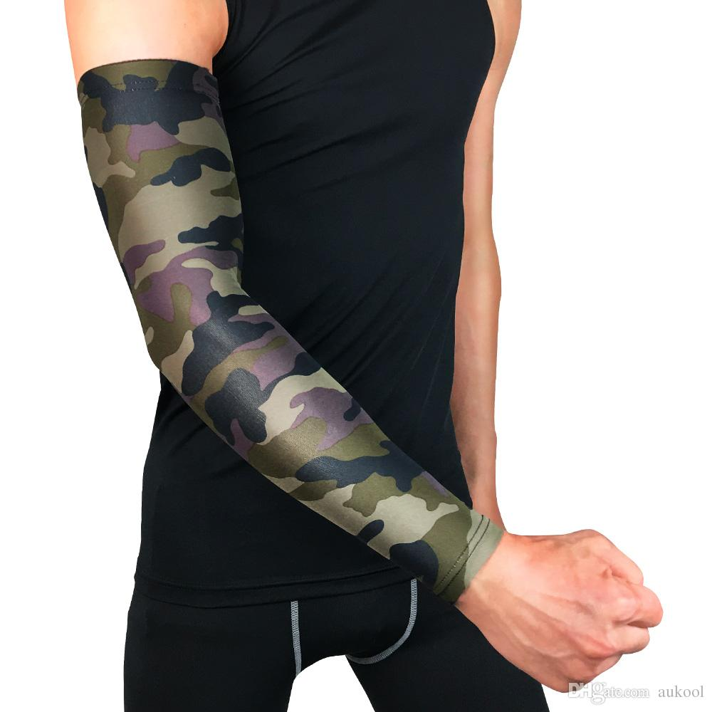 Men's Accessories Hot Sale Uv Protection Arm Sleeves Cover For Men Cycling Arm Warmers Basketball Volleyball Bicycle Bike Arm Covers Elbow Pads Buy One Give One