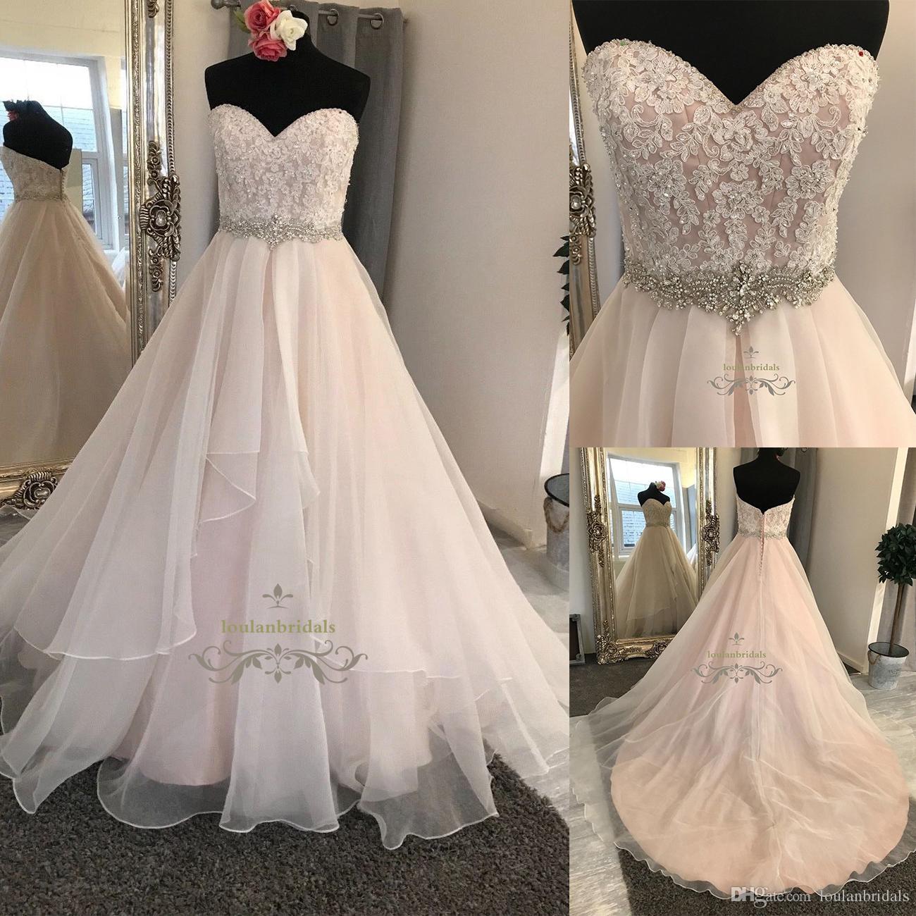 Beautiful With Blush Underlay Ball Gown/Duchess Glamourous Wedding ...