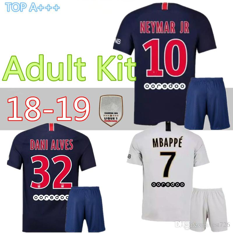 335cf0861889f3 2019 Psg Home Away ADULT Kit 18 19 Mbappe VERRATTI MAILLOT DE FOOT  Survetement Psg SHIRT 2018 2019 Seasons PARIS MAN Jersey From Cst726