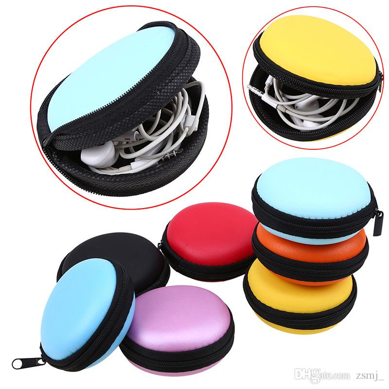 1bc66ad5dd5 2019 8.3cm X3.5cm Round EVA Hard Case Earphone Earbuds Storage Carrying Box  Pouch Bags From Zsmj