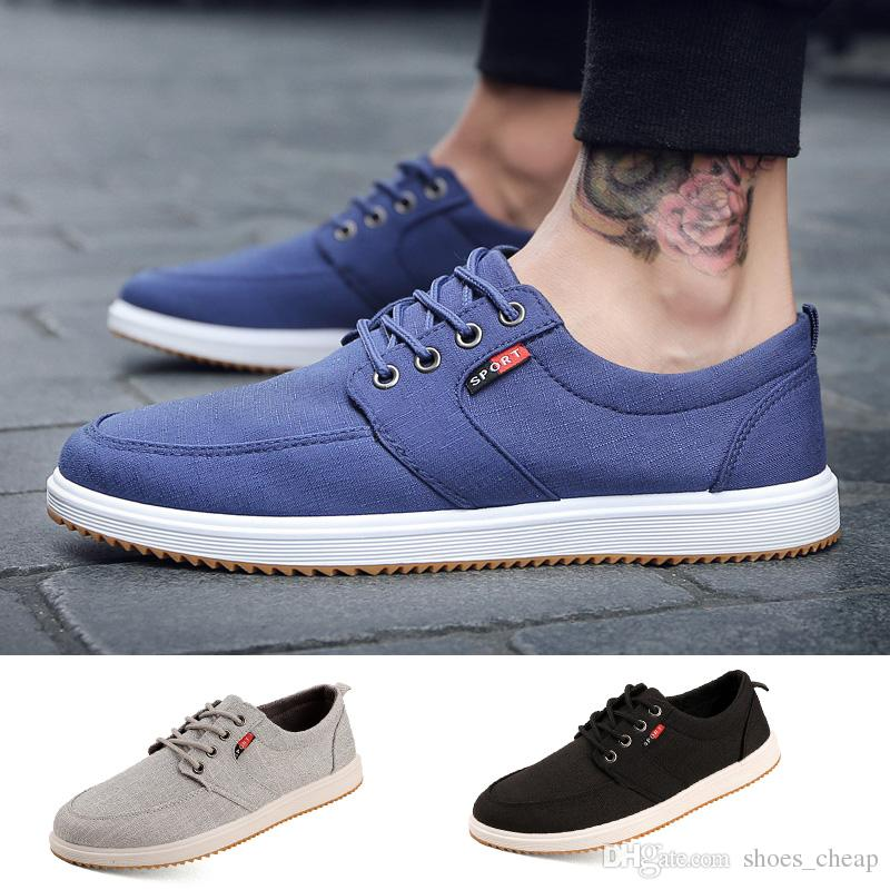 New Arrival Spring Summer Comfortable Casual Shoes Mens Canvas Shoes For Men  Lace-Up Brand Fashion Flat Loafers Shoe Casual Shoes Shoes Sports Online  with ... 3836ef816