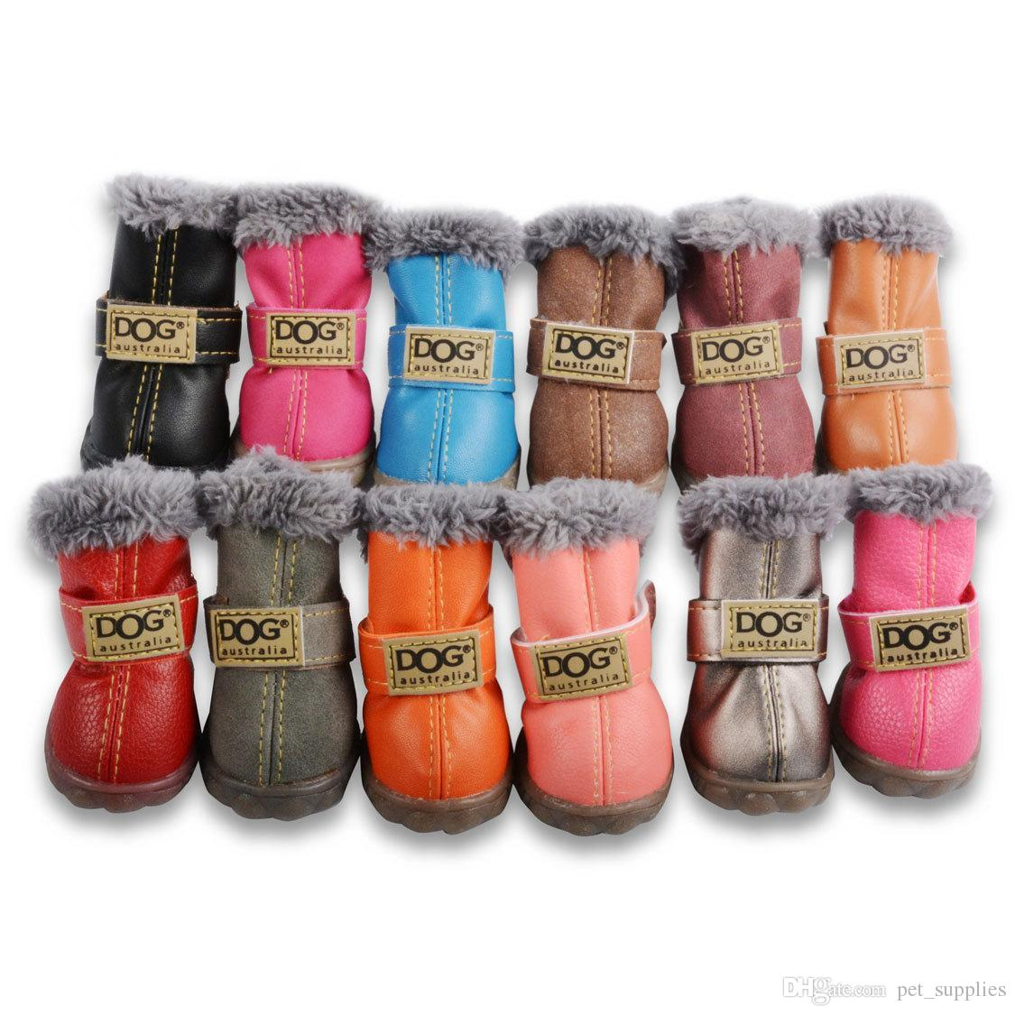 Fashion Dogs Winter Snow Boots Leather Dog Shoes For Chihuahua Waterproof  Anti Slip Pet Shoes Small Dogs Free DHL Shipping UK 2019 From Pet supplies 6a54cd918024