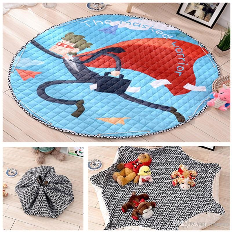 Baby Toy Storage Bag Cotton Round Rugs For Children Toddler Crawling Mat  Kids Carpet Diameter 57 Home Organizers Baby Rug Play Mat Storage Bags  Online With ...