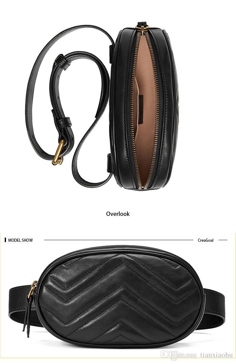 2018 New Luxury Donne Borse del progettista del sacchetto della vita di Fanny Pack Sacchetti della signora Belt marca famosa petto la borsa delle donne