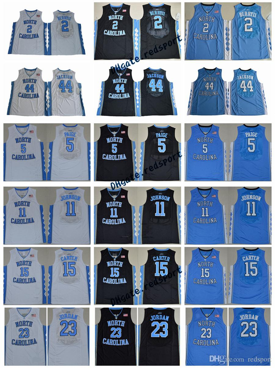 3543b176630761 North Carolina Tar Heels 23 Michael J 2 Joel Berry II 5 Marcus Paige 11  Johnson 15 Vince Carter 40 Harrison Barnes College Basketball Jersey Dennis  Smith ...