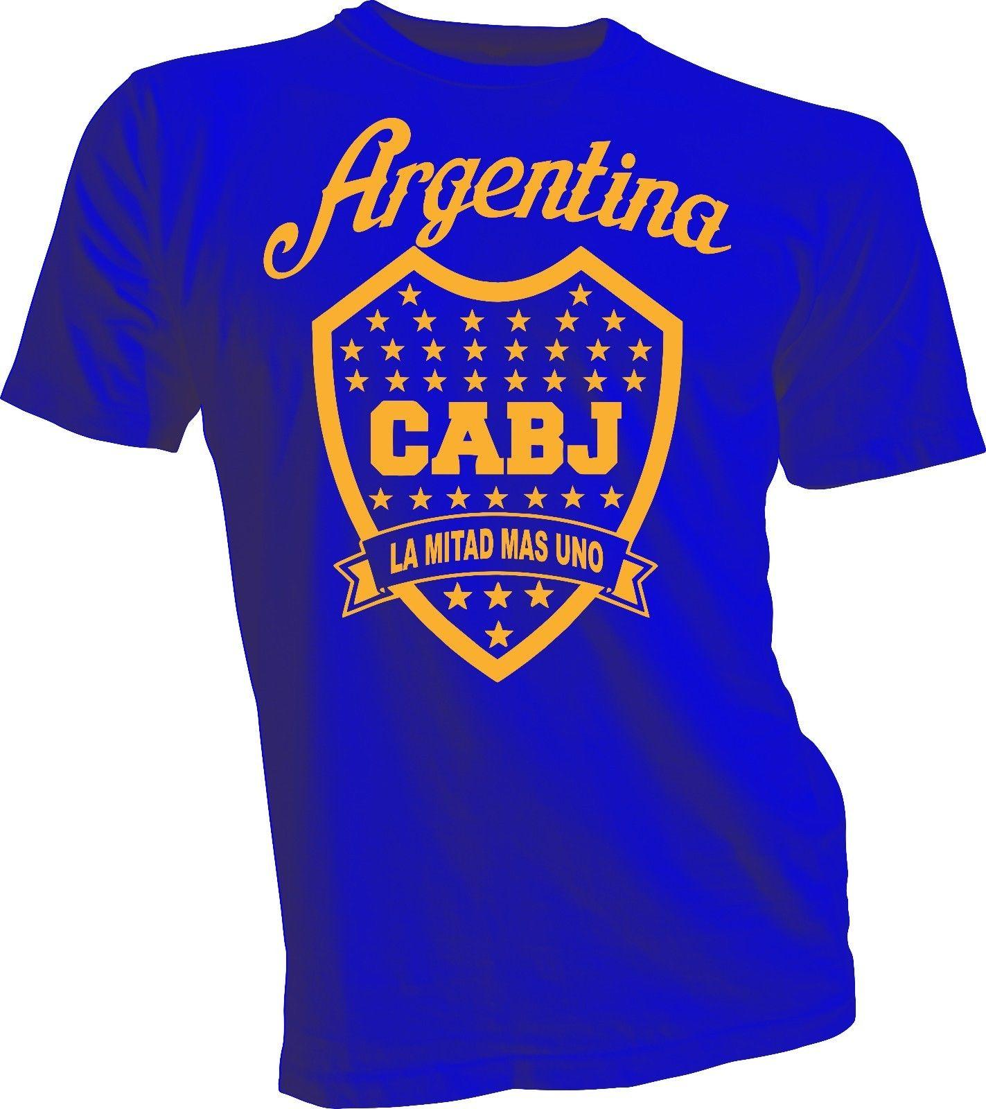 618e7bdc30a Boca Juniors De Argentina Futbol Soccer T Shirt Camiseta La Mitad Mas Uno  New Funny Unisex Casual Gift T Shirts With Awesome Cheap T Shirts From ...