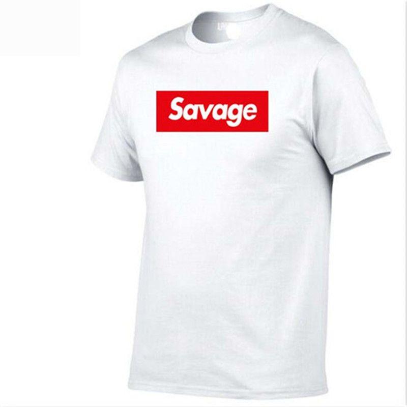 5a8bc75efadc 2018 Mens T Shirts Savage T Shirt Parody No Heart X Savage Mode Slaughter  Gang ATL 100% Cotton Short Sleeved T Shirt Awesome T Shirts For Men T Shirts  ...