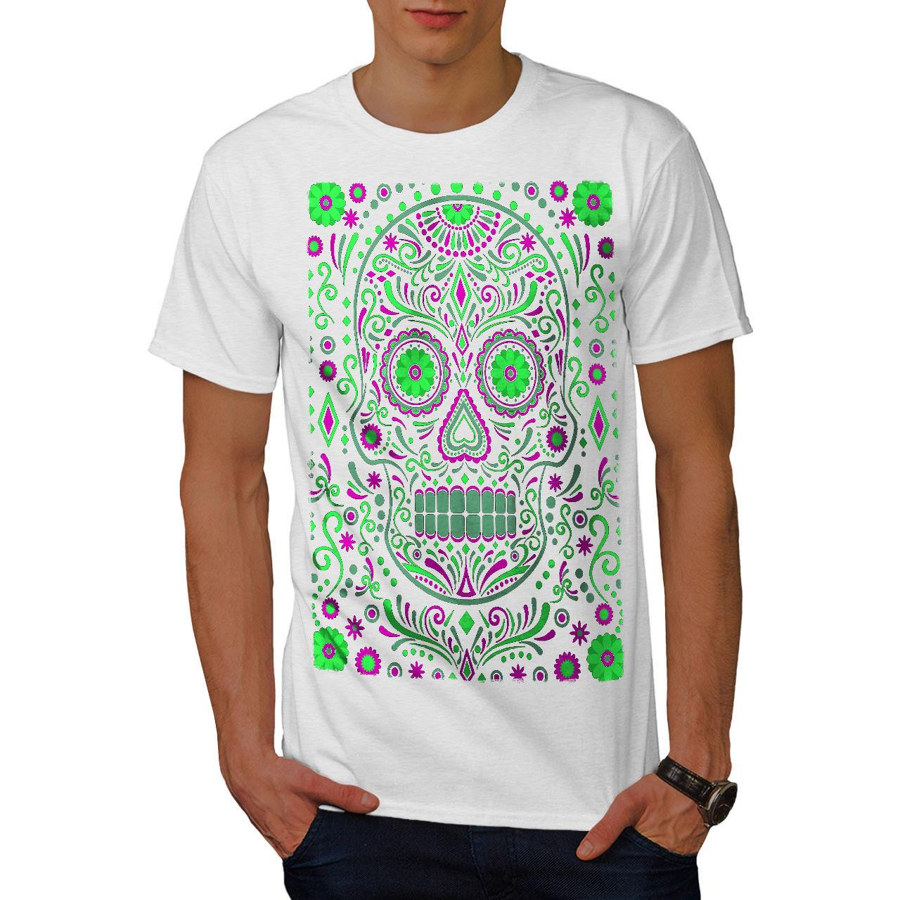 792c6b2b Wellcoda Skull Sugar Acid Art Mens T Shirt, Zombie Graphic Design Printed  Tee Casual Funny Unisex Tee Gift Dirty T Shirts Graphic Tee Shirts From ...