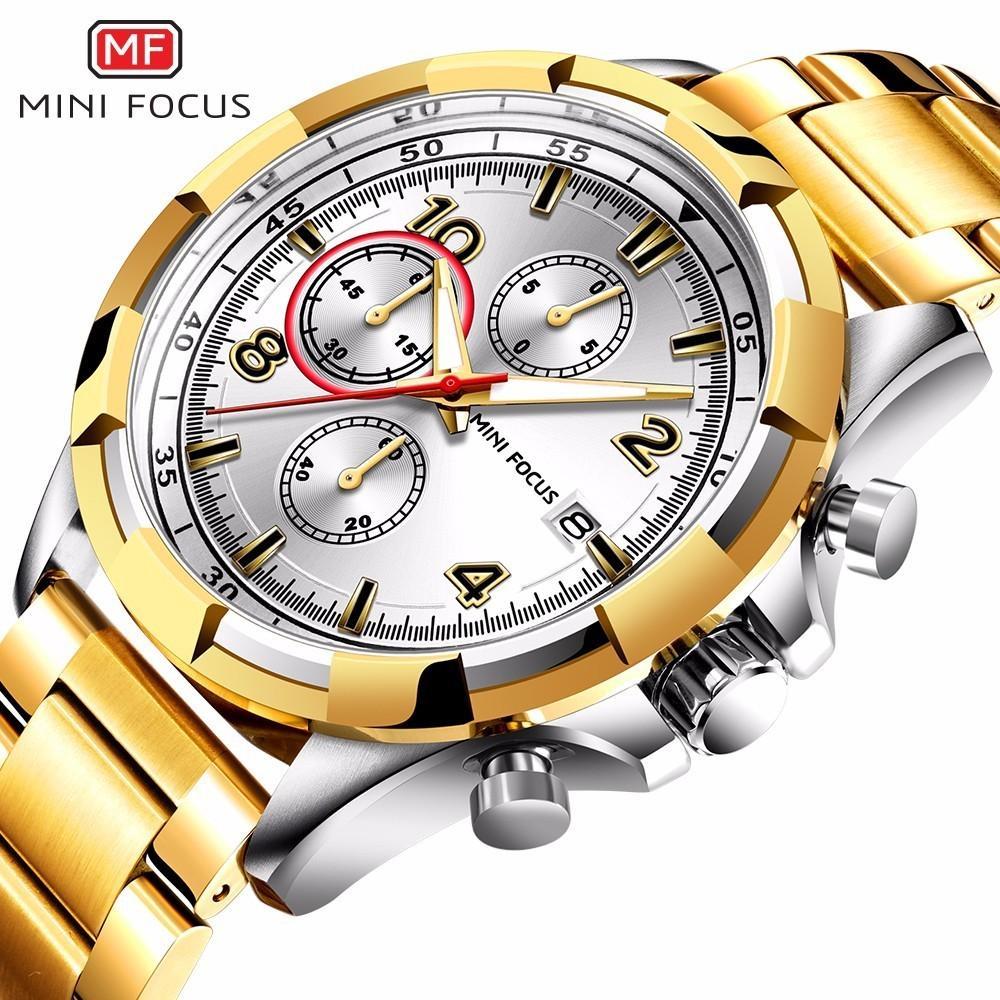 af6660ce7a3 Compre MINI FOCO 2018 Nova Moda Top Marca Mens Relógios De Negócios De Quartzo  Relógio De Aço Inoxidável Strap Casual Relógio Relogio MF0198G De Heheda1