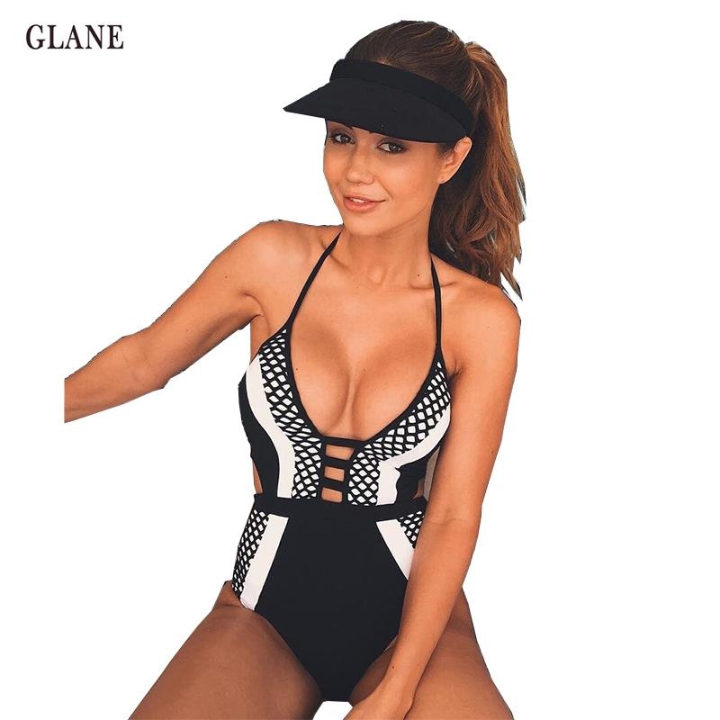 1fa5ad9d355 2019 2017 Hot New One Piece V Retro Hollow Bandage Style Bikini Monokini  Swimsuit Lace Up Bathing Suit Bra Swimwear Womens Bikinis From Vanilla04,  ...