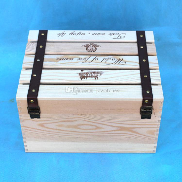Caja de embalaje de vino de madera para 6 botellas Cajas de regalo de vino Bolsas de vino al por mayor Red Wines Carrier