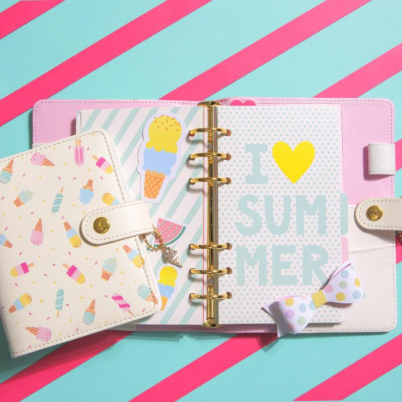 photo relating to Diy Planner Organizer identified as Dokibook Freeshipping Lovedoki fresh laptop Do-it-yourself summer months A6A7 Planner Zipper hasp organizer Lovely Diary Program kawaii wholesale scorching