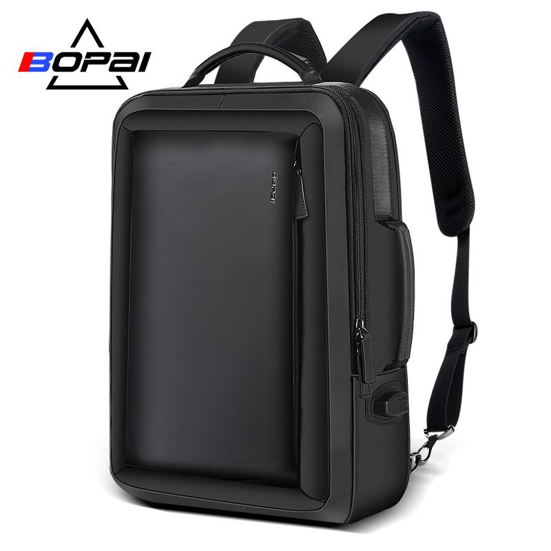 bbff5c3273e61 Acquista BOPAI Moda In Pelle Plecak Uomo Moda Uomo Zaino Zaino Solid ...