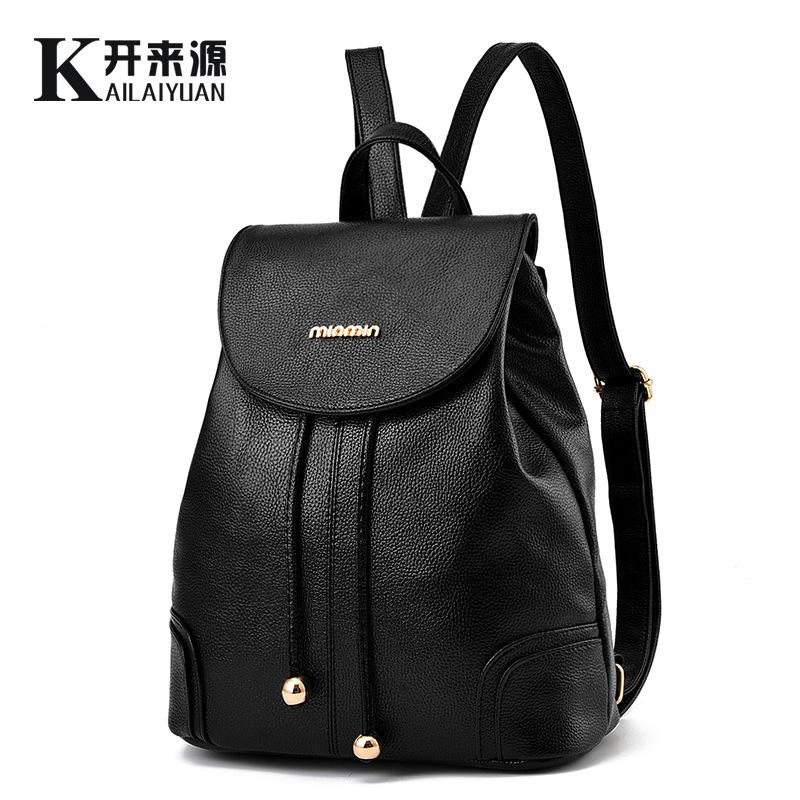 0ccfc614cb 100% Genuine Leather Women Backpack 2018 New Backpack Fashionista ...