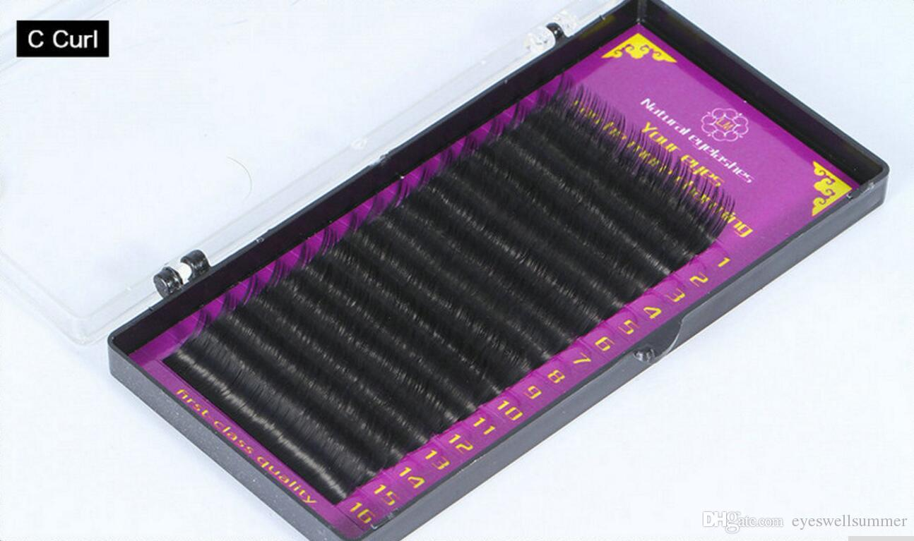 All Size 5 trays J/B/C/ D curl 7-15mm Individual Mink natural Eyelash Extension. Fake False Eyelashes cosmetics