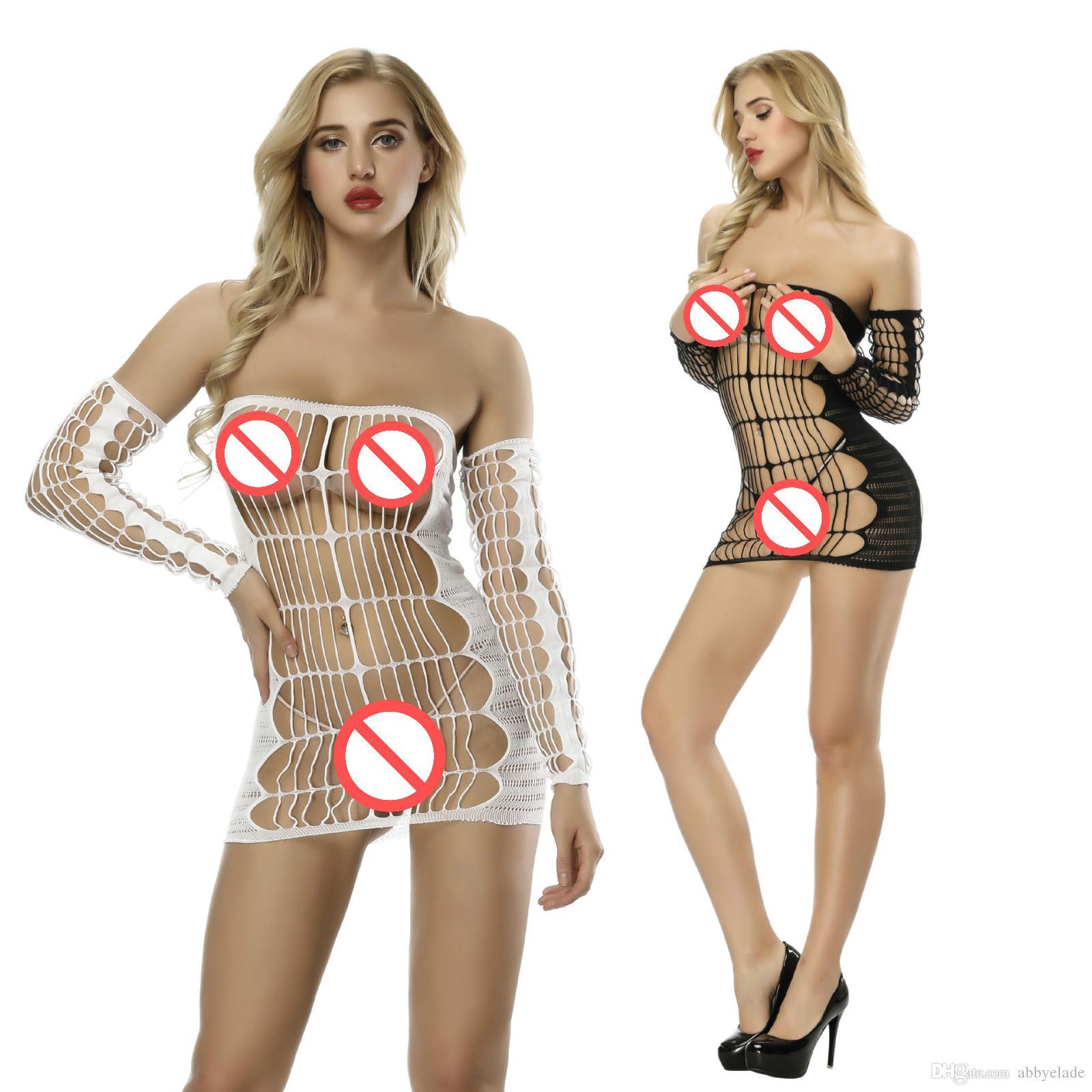 2b1553f44807 Acquista Sleepwear Erotico Sexy Abito A Rete Lingerie Langerie Trasparente  Tessuto Babydoll Costume Camicia Da Notte Chemise Hot Sexi Bodywear  Bodywear A ...