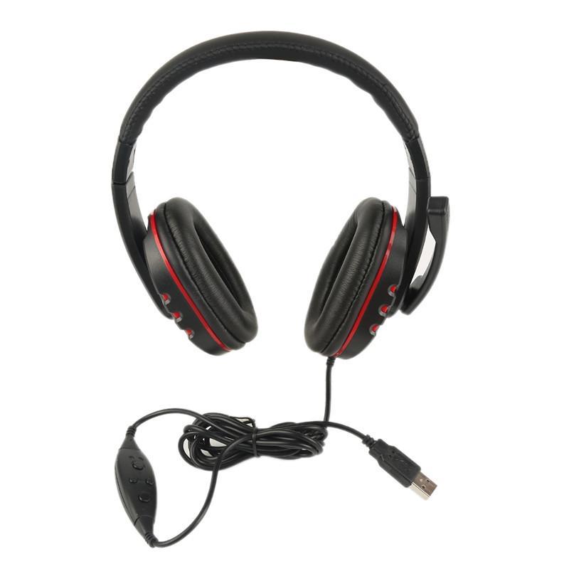 Acquista Cuffie Da Gioco Con Cavo USB Cuffie Da Gioco Con Cancellazione Del  Rumore Microfono Cuffie Stereo Con Controllo Del Volume PS3 PS4 Computer  Gamers ... 221634884ca1