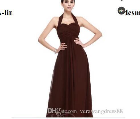 24d0ce5859 Ruched A Line Empire Waist Halter Long Bridesmaid Dress Blue Dresses Cheap  Dresses Online From Weddingdress1023