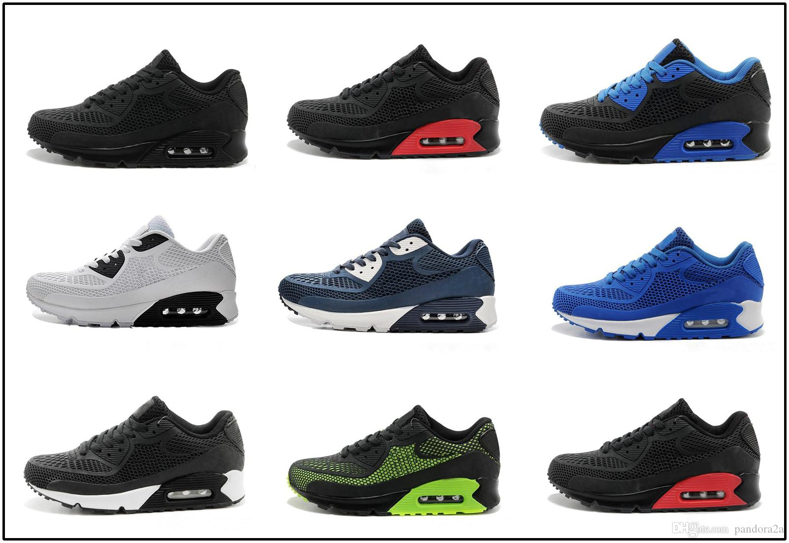 buy popular cb294 a4efb Acheter Nike Air Max Airmax 90 Kpu 2017 Haute Qualité Chaussures De Course  Coussin 90 KPU Hommes Femmes Classique 90 Casual Chaussures De Sport  Sneakers ...