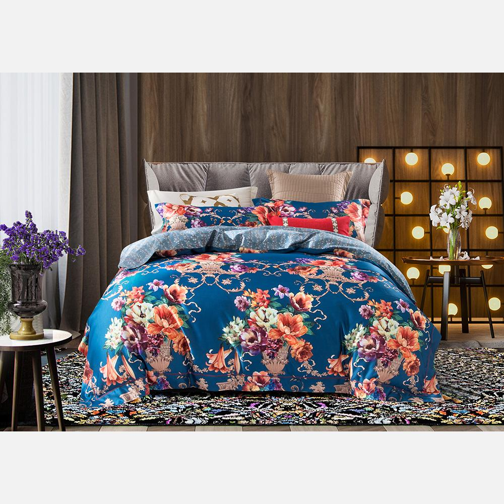 971c26e0ccda European Luxury Bedding Sets Bohemian Double Queen Super King Size Comforter  Duvet Cover Bed Linens Pillowcase Floral Paern