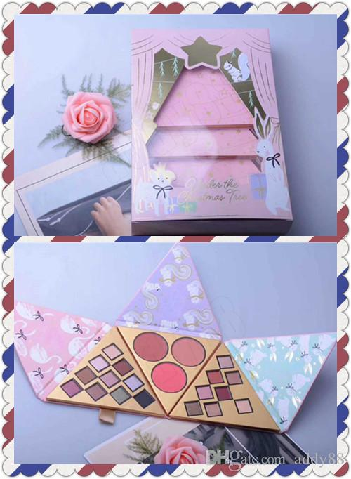 Newest Faced Christmas Set Gift Under The Christmas Tree Contains 2 Eyeshadow Blush With Better Than Sex Mascara 4 in 1 Kit
