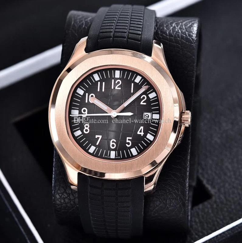 cef5fb64 Luxury AAA Top Quality Nautilus 4 color 18k Rose Gold Automatic Movement  Mens Watch Rubber Band 40MM Mens Wristwatches Transparence Back