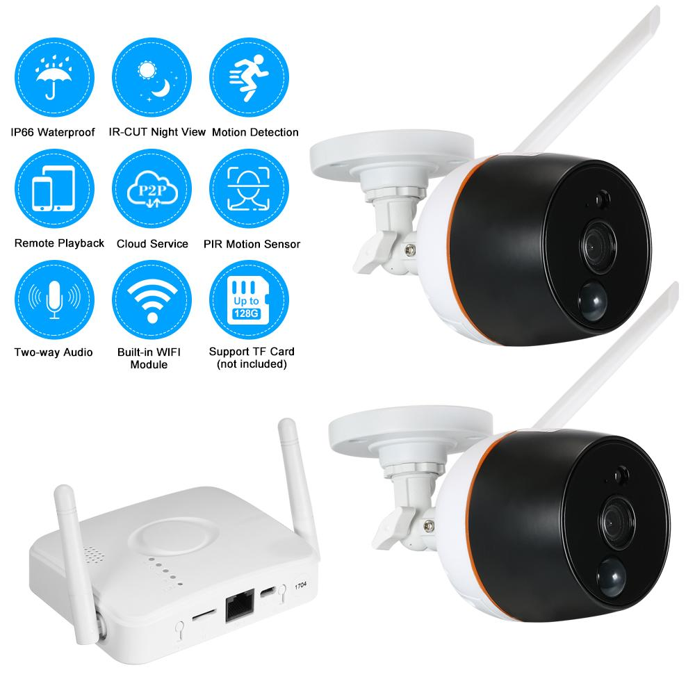 2019 4ch wifi mini nvr kit video surveillance tf card record 1080p