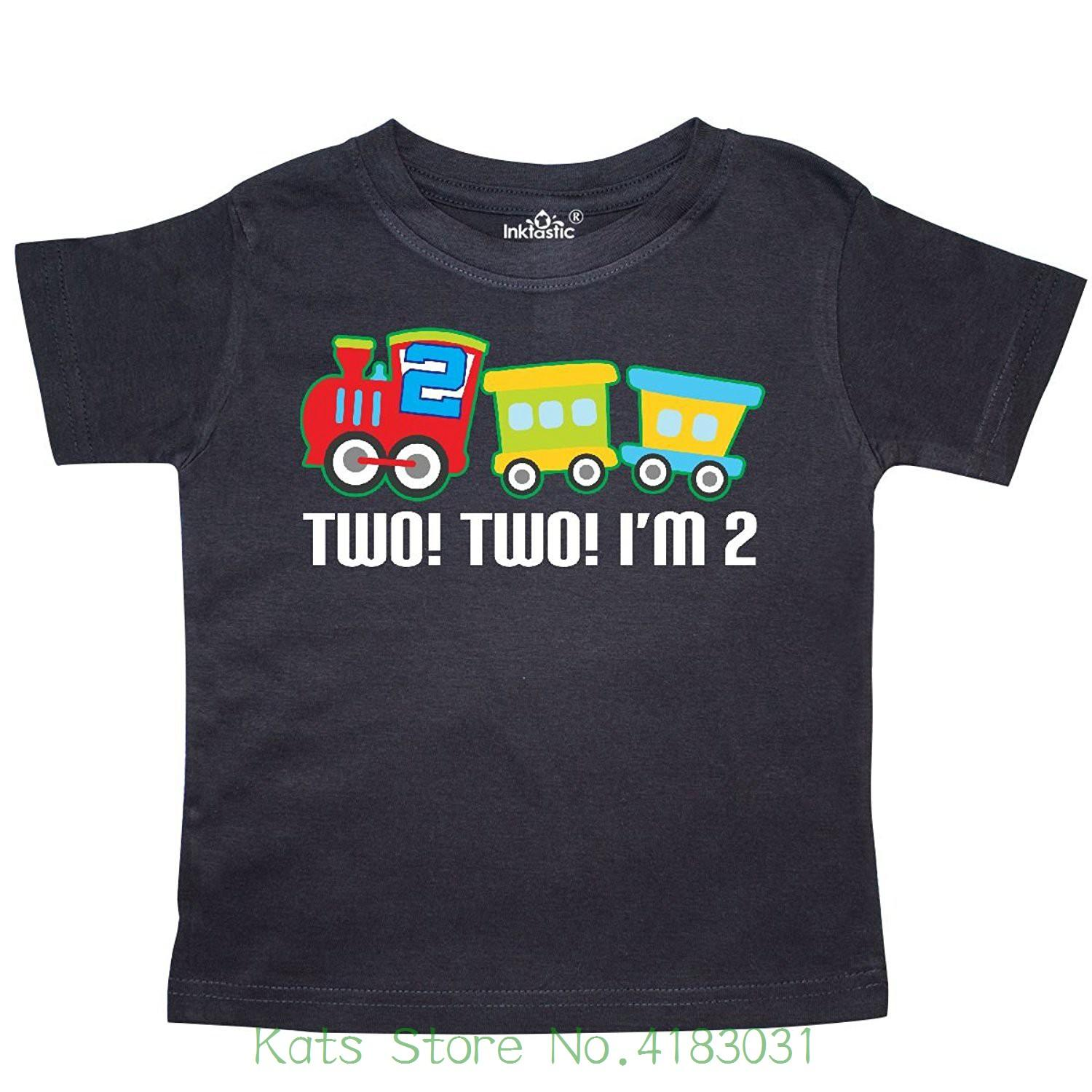 2nd Birthday Two Train Outfit Toddler T Shirt Mans Unique Cotton Short Sleeves O Neck Make Shirts Online Tees Design From Katsstore