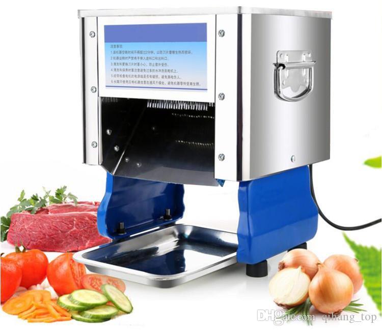 Qihang_top 3.5mm Haushalt kommerzielle Nutzung Fleisch Schnitzler mincer, elektrisches Gemüse Fleisch-Schneidemaschine Verkauf
