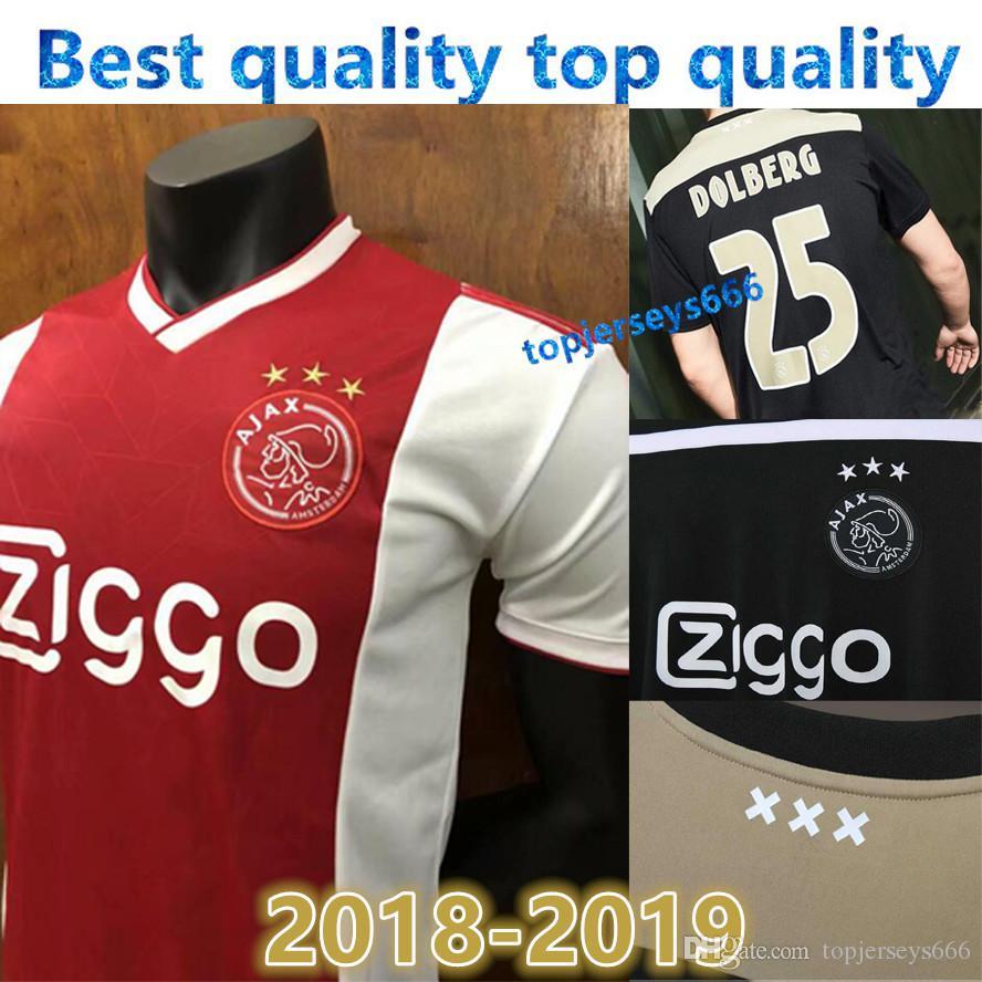 c9dfd51de9a 2019 New Ajax Away Soccer Jersey 18/19 Ajax Home And Away Soccer Shirt 2019  Customized #14 CRUIJFF KLAASSEN DOLBERG NOURI Football Uniform Sales From  ...
