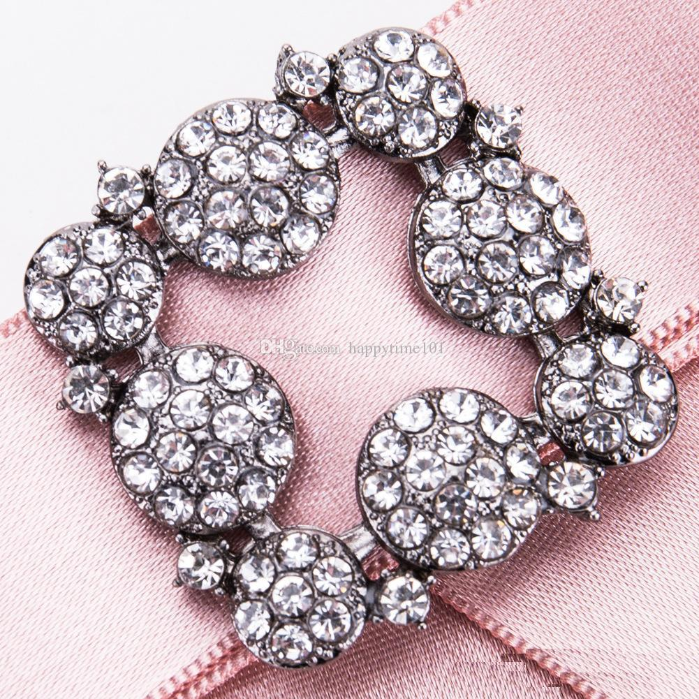 Gun Black Acrylic Pin Brooch Flower Jewelry Gift Ethnic Bohemian Promotion Cloth Art Crystal Bow Brooches for Women Clothing Accessories