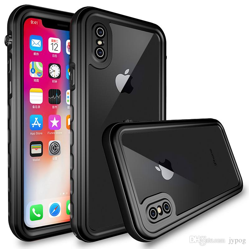 For iPhone XR XS Max Case Waterproof Defender Case Under Water Full Sealed Cover Snowproof Shockproof Dirtproof Case with Screen Protector