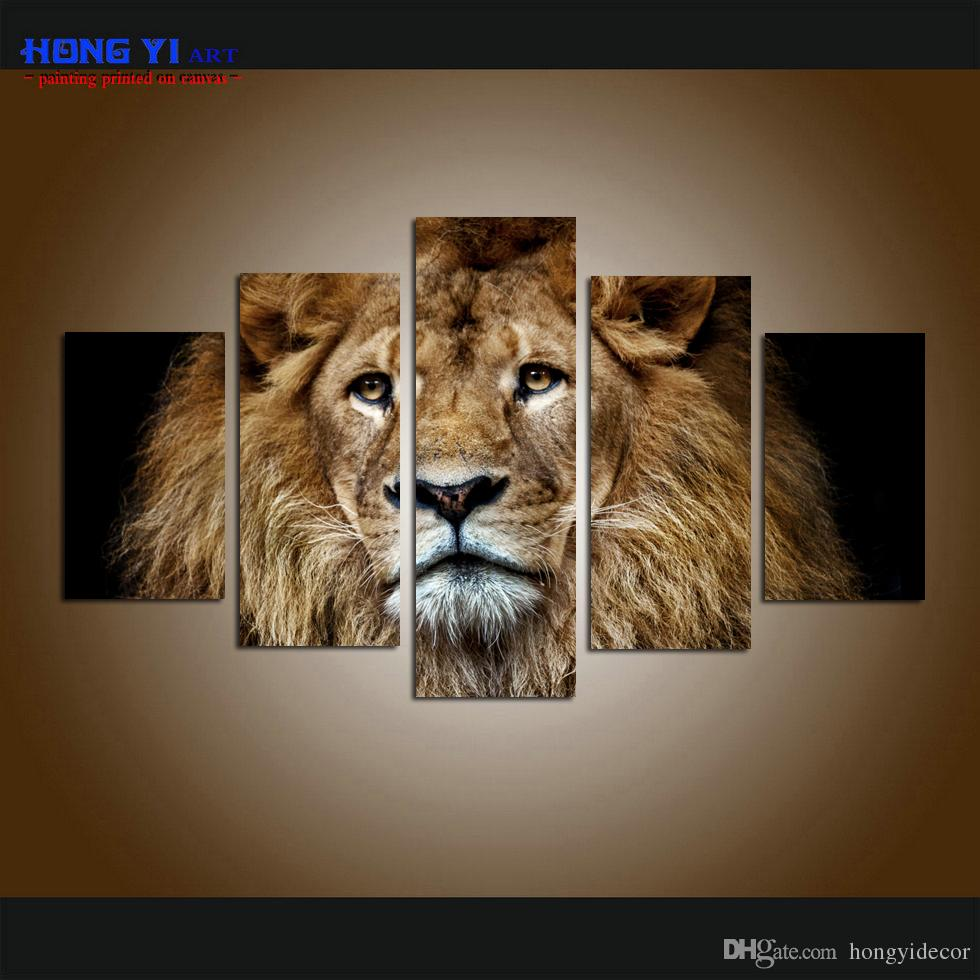 cac895f75b957 Large Wall Art Contemporary Arrival Roaring Lion Pictures Printing on  Canvas Hot Sale Modern Art Painting for Living Room Modern Home Decor