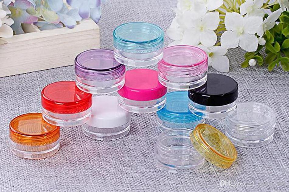 3g Mini Cream Bottiglia di plastica Vuota Cosmetic Oil Cosmetic Container Riutilizzabile Cream Jar Vetrina di prova del campione OOA4924