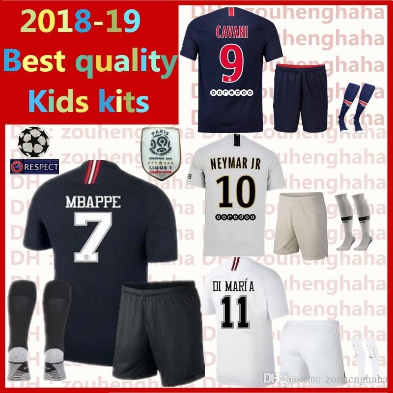 Compre PARIS Maillot PSG Kit Kids 2018 2019 MBAPPE DI MARIA Camisa De  Futebol VERRATTI CAVANI ZLATAN MAILLOT Conjunto De Crianças Uniforme De  Futebol De ... 49106457e4cdb