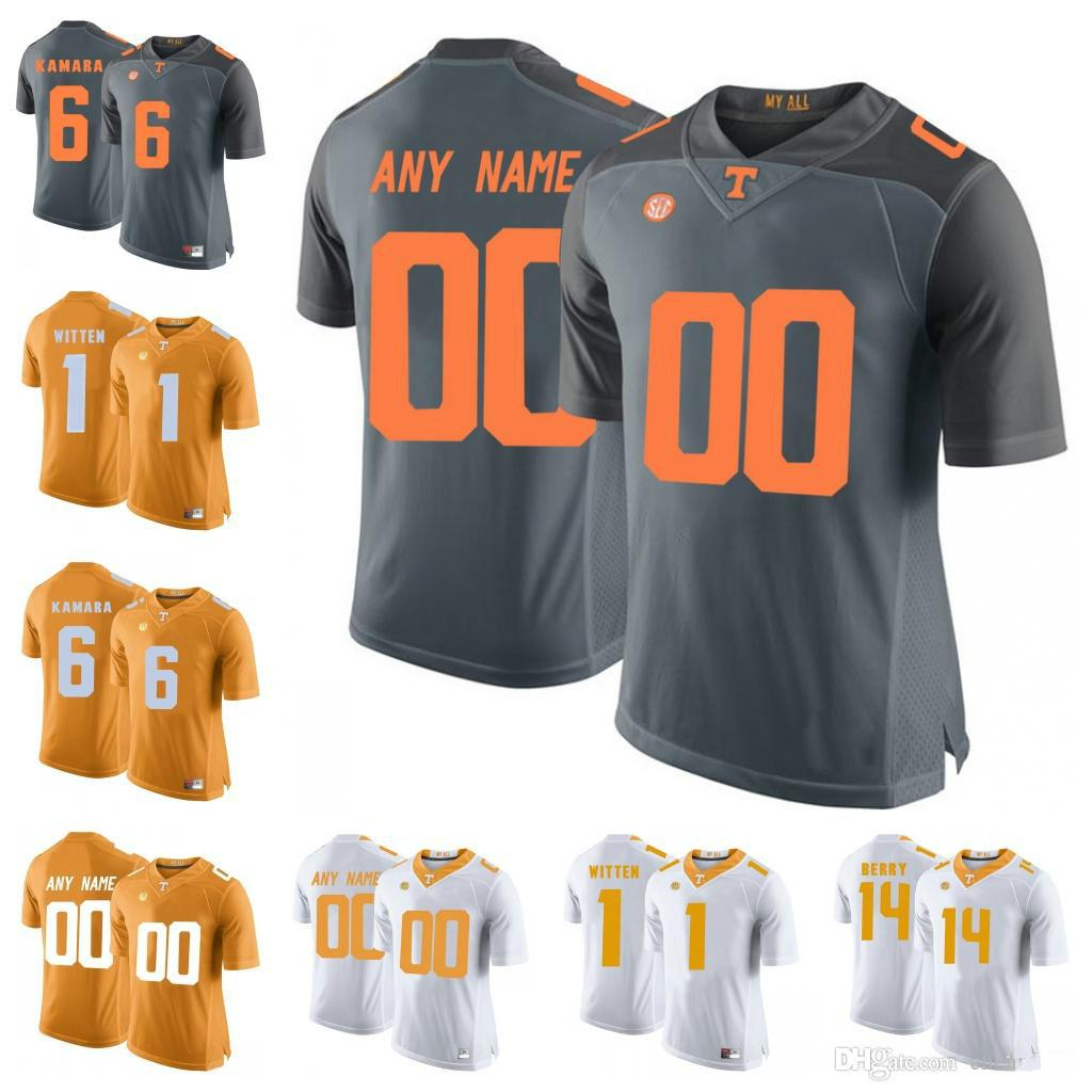 e7d83fcc1 Custom Tennessee Volunteers College Football 6 Alvin Kamara 14 Eric Berry 1  Jason Witten 16 Peyton Manning Stitched Any Name Number Jersey Online with  ...