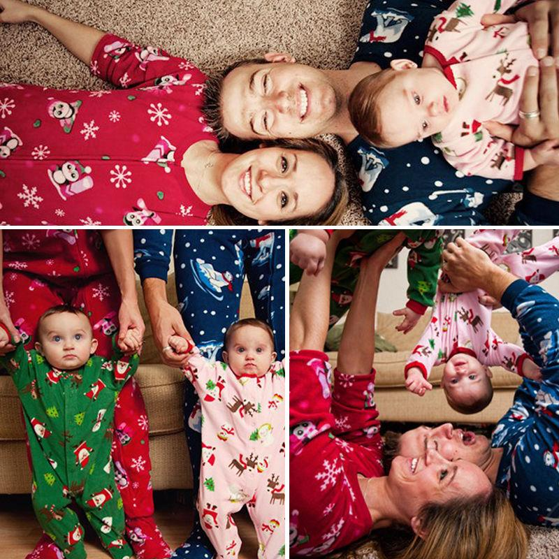 aadbee924e 2019 Family Matching Christmas Pajamas Set Women Baby Kids Deer Sleepwear  Nightwear Fashion Father KIDS Mon New Year Family Look Sets From  Blueberry15