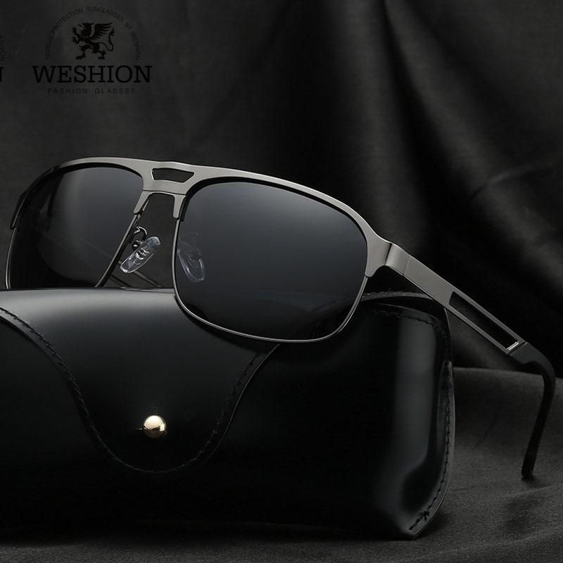 6ffb0b7e3 Vintage Brand Design Mirror Sunglasses Polarized Men 2018 Male Night Driving  Sun Glasses Black Silver Fashion Eyewear Oculos Glasses For Men Mens  Eyeglasses ...