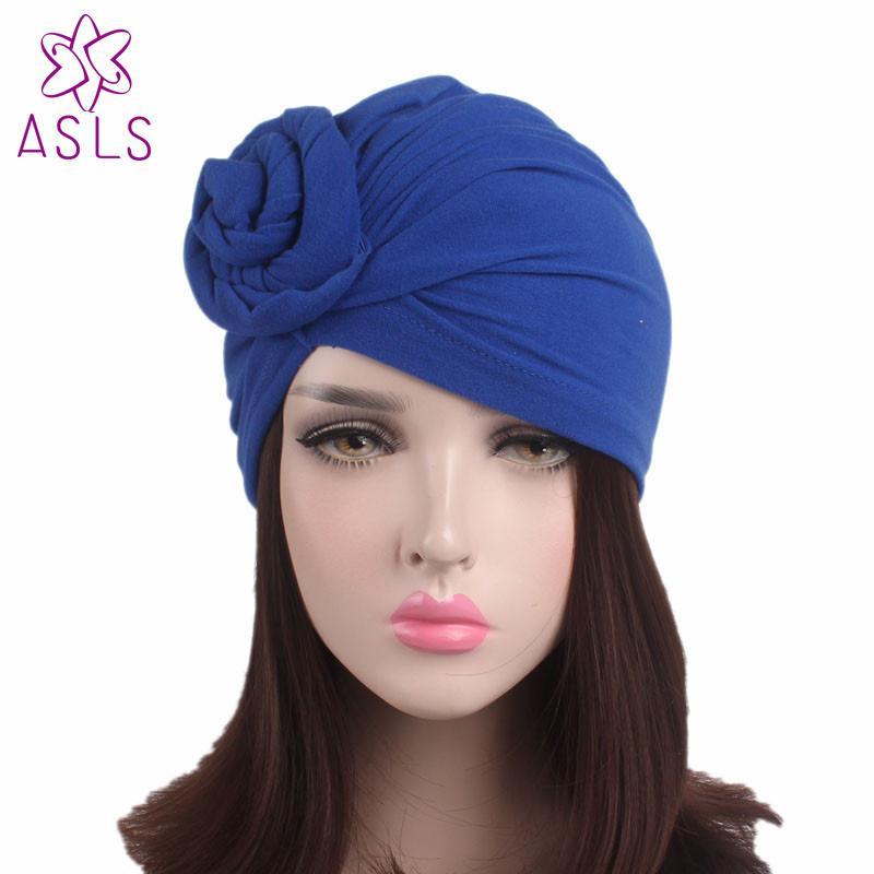 4ad58fa91 2017 New women knotted turban hat chemo cap headbands Muslim turban for  women caps