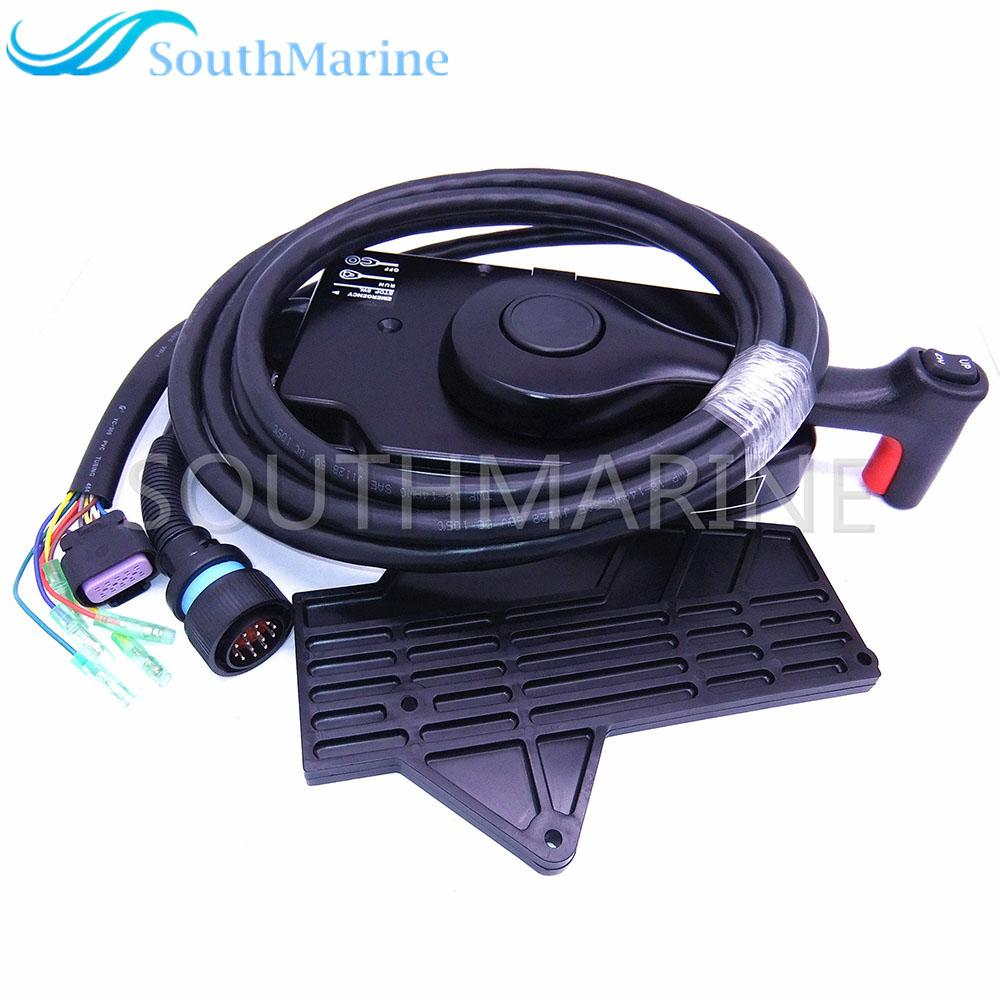 881170A13 Boat Motor Side Mount Remote Control Box With 14 Pin for Mercury  Outboard Engine 14Pin