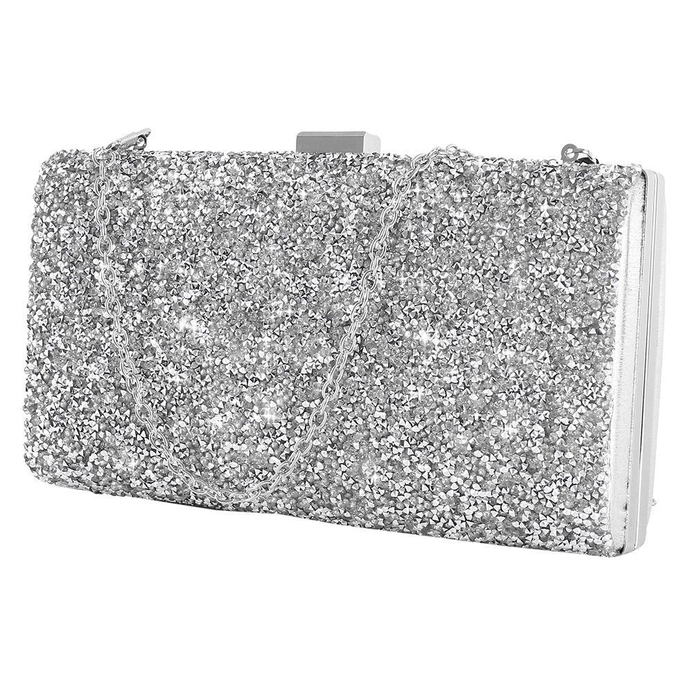 a849f68f4e4da Women Evening Bag Luxury Black Silver Wedding Party Bag Diamond Rhinestone  Clutches Crystal Bling Gold Clutch Purses Large Handbags Black Leather  Handbags ...