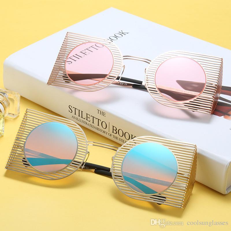 81153d316 Oversized Sunglasses Vintage Round Big Size Lens Mirror Sunglasses Women  Brand Designer Metal Frame Lady Sun Glasses Lady Cool Retro Sunglasses  Online ...